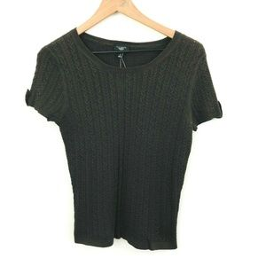 NWT! Talbots Short Sleeve Cable Knit Sweater